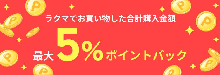 ラクマでお買い物した合計購入金額 最大5%ポイントバック