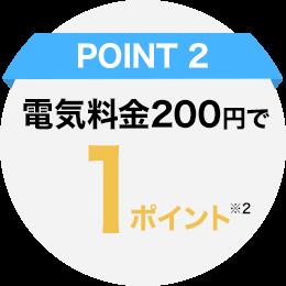 POINT2_電気料金200円で1ポイント※2
